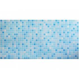 Панель ПВХ Мозаика синяя 955*480мм.