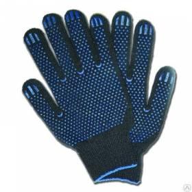 Перчатки х/б черные плотные зима