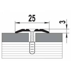 Порог ПС 01.900.001 (25мм. без покрытия)