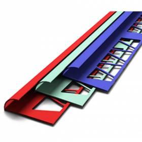 Плиточный уголок наружный (7-8мм, 9-10мм.) цветной в ассортименте 2.5м